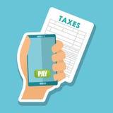 Ejemplo de impuestos, icono editable del vector Imagenes de archivo