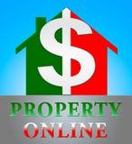 Ejemplo de indicación en línea de Real Estate 3d de la propiedad stock de ilustración