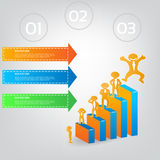 Ejemplo de Infographic con el hombre de negocios para el diseño Libre Illustration
