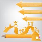 Ejemplo de Infographic con el hombre de negocios para el diseño Ilustración del Vector