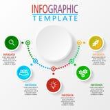 Ejemplo de Infographic en vector ilustración del vector