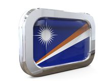 Ejemplo de Islands Button Flag 3D del mariscal ilustración del vector