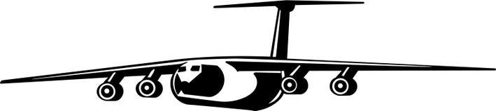 Ejemplo de Jet Transport Aircraft Flying Vector ilustración del vector