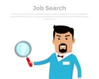 Ejemplo de Job Searching Concept Flat Vector Imagen de archivo libre de regalías