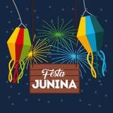 Ejemplo de junio de la festividad stock de ilustración