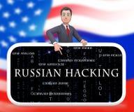 Ejemplo de la alarma 3d del espionaje del web del pirata informático del teléfono stock de ilustración