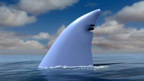 Ejemplo de la aleta del tiburón libre illustration