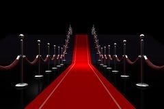 ejemplo de la alfombra roja 3d Fotos de archivo