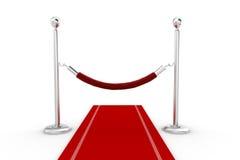 ejemplo de la alfombra roja 3d Fotos de archivo libres de regalías