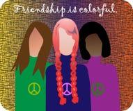 Ejemplo de la amistad foto de archivo