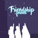 Ejemplo de la amistad Fotografía de archivo