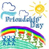 Ejemplo de la amistad Imagen de archivo libre de regalías