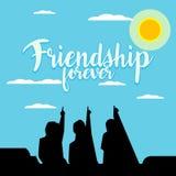 Ejemplo de la amistad Foto de archivo libre de regalías