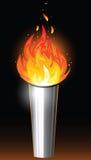 Antorcha con la llama ilustración del vector