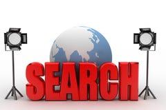 ejemplo de la búsqueda 3d Foto de archivo libre de regalías