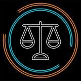 Ejemplo de la balanza de la justicia del vector libre illustration