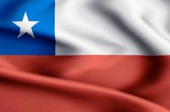 Ejemplo de la bandera de Chile ilustración del vector
