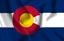 Ejemplo de la bandera de Colorado stock de ilustración