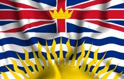 Ejemplo de la bandera de la Columbia Británica stock de ilustración