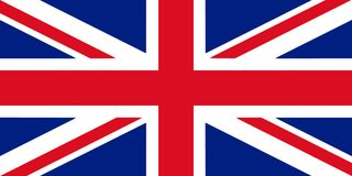 Ejemplo de la bandera 3D de Gran Bretaña Imágenes de archivo libres de regalías