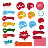 Ejemplo de la bandera de las ventas - ejemplo del vector Foto de archivo libre de regalías