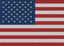 Ejemplo de la bandera de los Estados Unidos de América del dril de algodón de la materia textil Imagen de archivo libre de regalías
