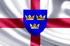 Ejemplo de la bandera de East Anglia stock de ilustración