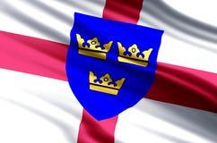 Ejemplo de la bandera de East Anglia libre illustration