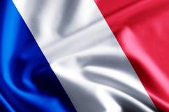 Ejemplo de la bandera de Francia stock de ilustración