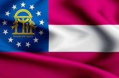 Ejemplo de la bandera de Georgia stock de ilustración