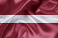 Ejemplo de la bandera de Letonia stock de ilustración