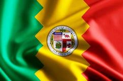 Ejemplo de la bandera de Los Ángeles California libre illustration