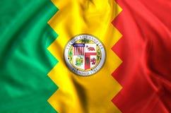 Ejemplo de la bandera de Los Ángeles California stock de ilustración