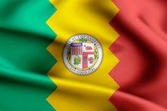 Ejemplo de la bandera de Los Ángeles California ilustración del vector