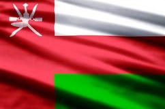 Ejemplo de la bandera de Omán stock de ilustración