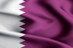 Ejemplo de la bandera de Qatar ilustración del vector