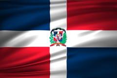 Ejemplo de la bandera de la República Dominicana stock de ilustración