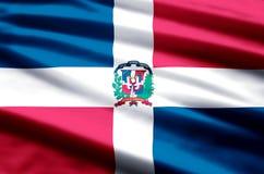 Ejemplo de la bandera de la República Dominicana ilustración del vector