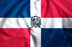 Ejemplo de la bandera de la República Dominicana libre illustration