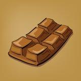 Ejemplo de la barra de chocolate dibujada mano Imagenes de archivo