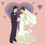Ejemplo de la boda en un estilo plano Fotografía de archivo libre de regalías