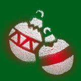 Ejemplo de la bola de la Navidad Imagen de archivo libre de regalías
