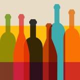 Ejemplo de la botella de vino ilustración del vector