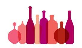Ejemplo de la botella de vino rojo libre illustration