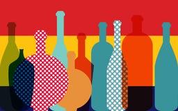 Ejemplo de la botella de vino Vector stock de ilustración
