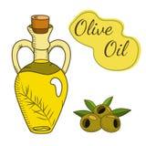 Ejemplo de la botella del aceite de oliva Fotografía de archivo