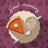 Ejemplo de la buena mañana stock de ilustración
