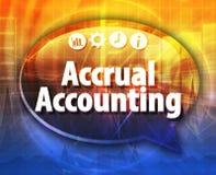 Ejemplo de la burbuja del discurso del término del negocio de la contabilidad de acumulación Imagen de archivo