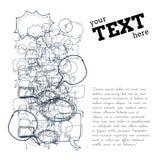 Ejemplo de la burbuja del texto stock de ilustración