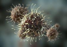 Ejemplo de la célula 3D del virus ilustración del vector